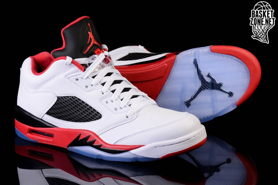 lowest price 5b46e fb8db NIKE AIR JORDAN 5 RETRO LOW FIRE RED