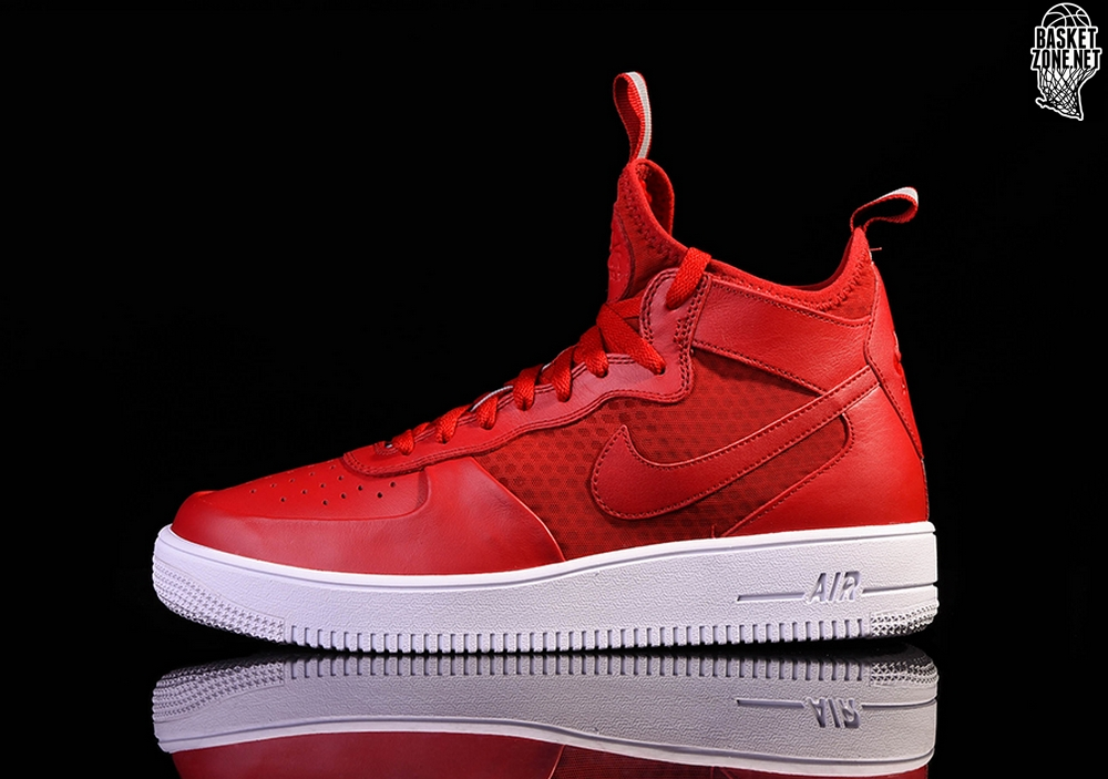 size 40 cc439 71c70 NIKE AIR FORCE 1 ULTRAFORCE MID GYM RED