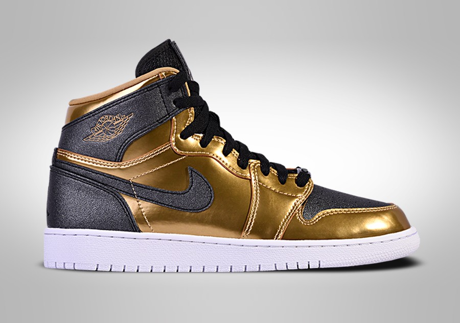 uk availability 8cfa7 f8b9e ... denmark nike air jordan 1 retro high bhm gg metallic gold black white  79e40 cec9f ...