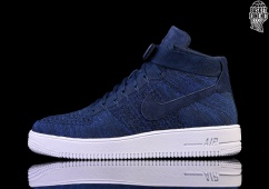 the latest b6a19 74441 NIKE AIR FORCE 1 ULTRA FLYKNIT MID COLLEGE NAVY