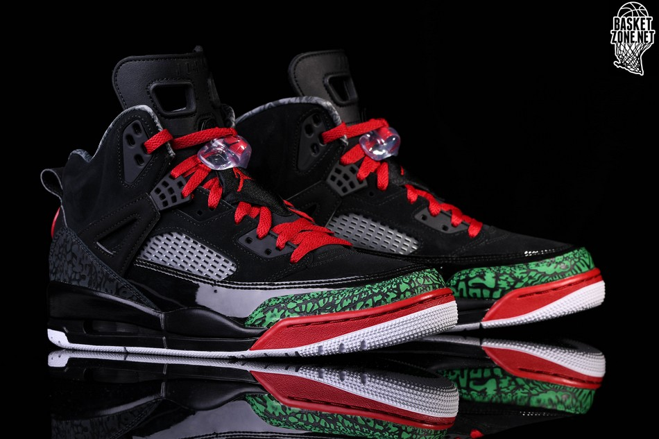 sports shoes 9a38b bd1a0 NIKE AIR JORDAN SPIZIKE BLACK RED POISON GREEN