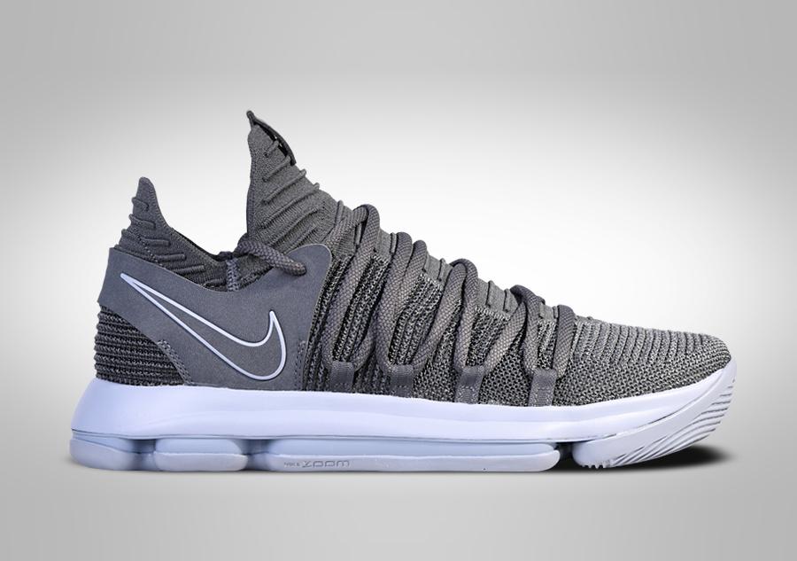 Nike Zoom Kd: NIKE ZOOM KD 10 COOL GREY Šedé/stříbrné Cena 2937,50kč