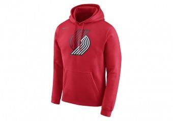 NIKE NBA PORTLAND TRAIL BLAZERS CLUB LOGO HOODIE UNIVERSITY RED