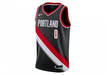 NIKE NBA PORTLAND TRAIL BLAZERS DAMIAN LILLARD SWINGMAN JERSEY ROAD BLACK