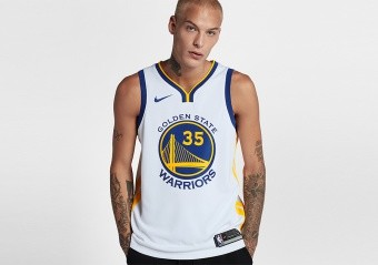 NIKE NBA GOLDEN STATE WARRIORS KEVIN DURANT SWINGMAN JERSEY HOME WHITE