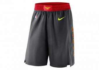 NIKE NBA ATLANTA HAWKS SWINGMAN SHORTS ROAD ANTHRACITE