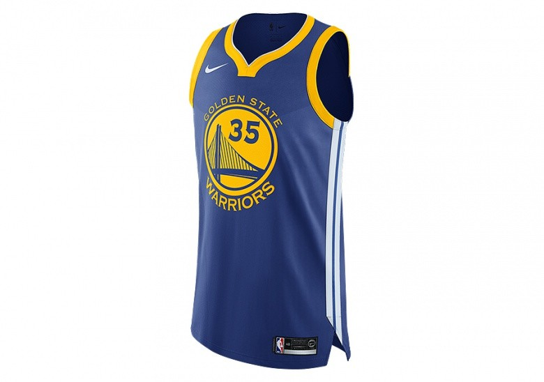 05ab145a9 NIKE NBA GOLDEN STATE WARRIORS KEVIN DURANT AUTHENTIC JERSEY ROAD RUSH BLUE