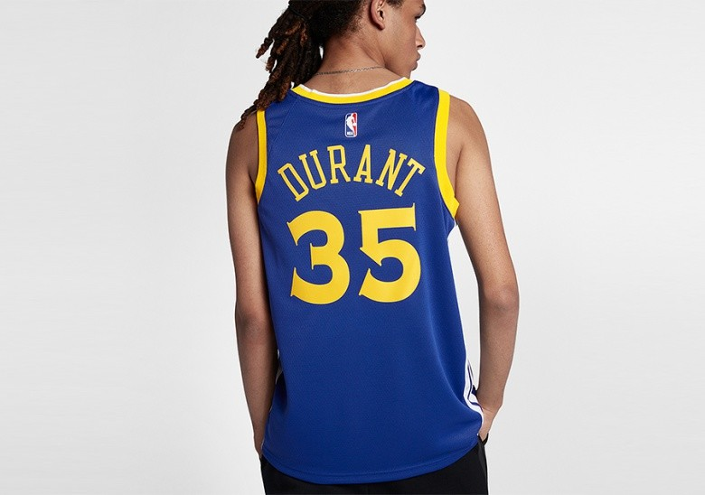 NIKE NBA GOLDEN STATE WARRIORS KEVIN DURANT SWINGMAN JERSEY ROAD RUSH BLUE