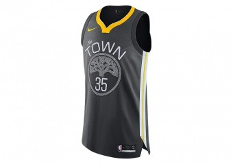NIKE NBA GOLDEN STATE WARRIORS KEVIN DURANT AUTHENTIC JERSEY ANTHRACITE