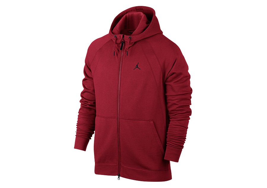 bc617f7d1a0d NIKE AIR JORDAN WINGS FLEECE FULL-ZIP HOODIE GYM RED price €92.50 ...