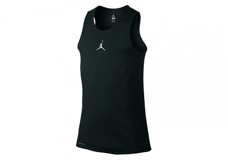 NIKE AIR JORDAN RISE DRI-FIT BASKETBALL TANK BLACK