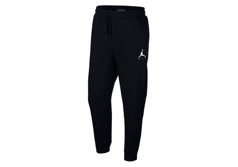 NIKE AIR JORDAN SPORTSWEAR JUMPMAN FLEECE PANTS BLACK