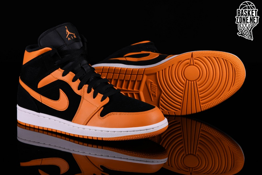 Peel Retro Air Orange Pour 1 Jordan Mid Nike Black yqa0AFwwt