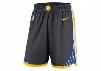 NIKE NBA GOLDEN STATE WARRIORS SWINGMAN SHORTS ANTHRACITE