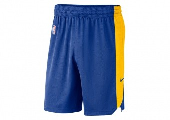 NIKE NBA GOLDEN STATE WARRIORS PRACTICE SHORTS RUSH BLUE