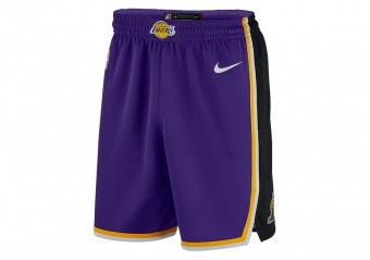 NIKE NBA LOS ANGELES LAKERS SWINGMAN SHORTS FIELD PURPLE