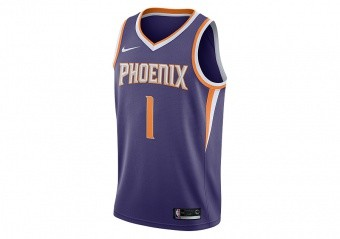 NIKE NBA PHOENIX SUNS DEVIN BOOKER SWINGMAN ROAD JERSEY NEW ORCHID