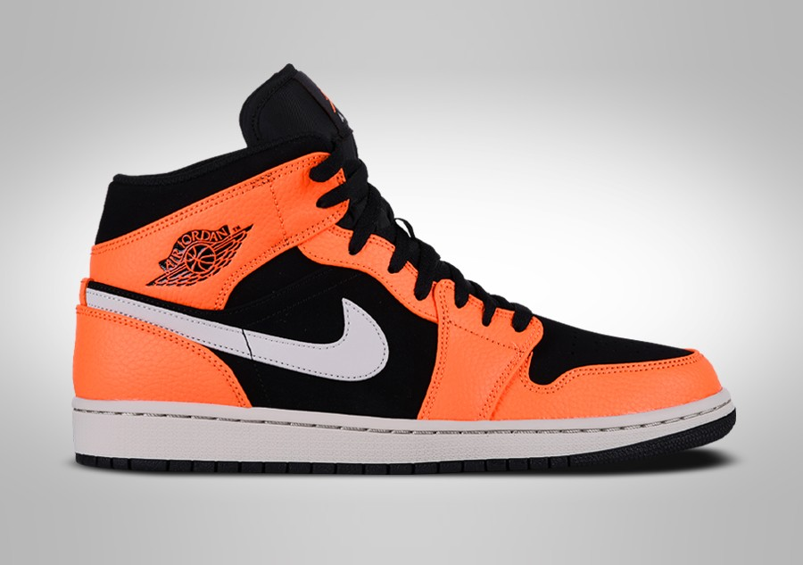 NIKE AIR JORDAN 1 RETRO MID GS BLACK ORANGE