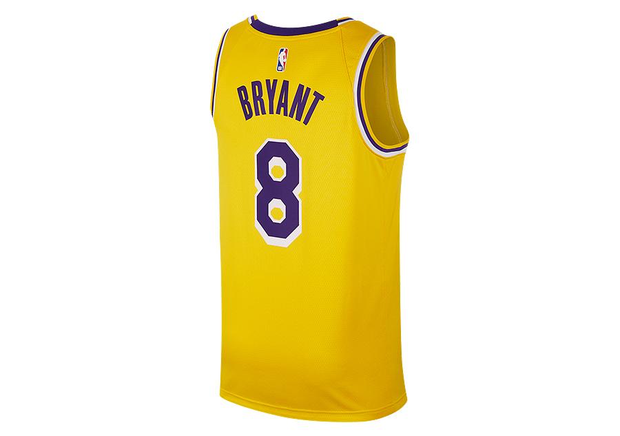 55036befdff NIKE NBA LOS ANGELES LAKERS KOBE BRYANT SWINGMAN ROAD JERSEY AMARILLO
