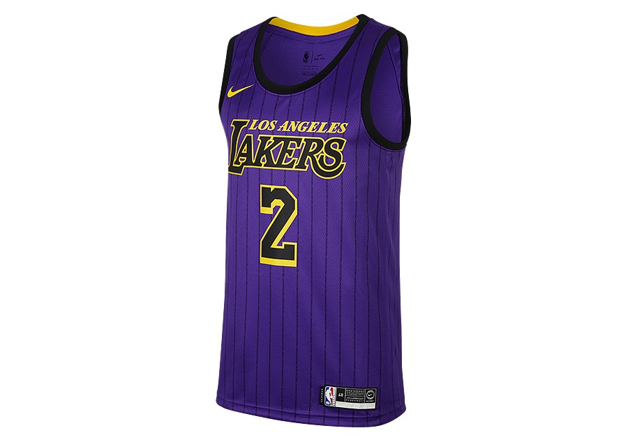 new style 0de93 b1a2c NIKE NBA LOS ANGELES LAKERS LONZO BALL SWINGMAN JERSEY FIELD ...