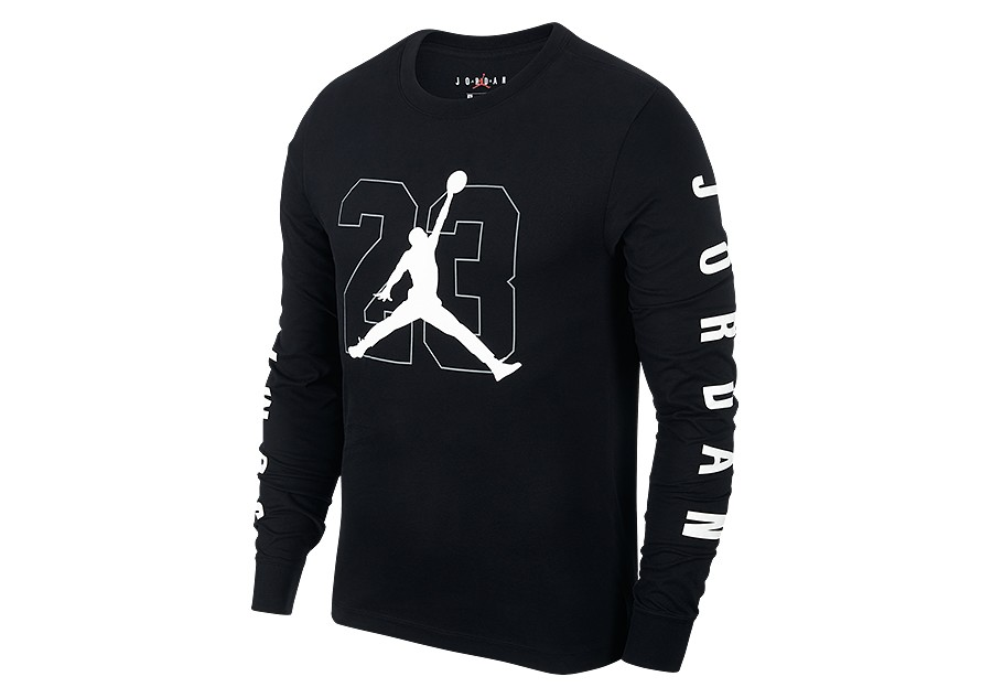 e15899e769c7 NIKE AIR JORDAN JBSK LONG-SLEEVE TEE BLACK price €37.50