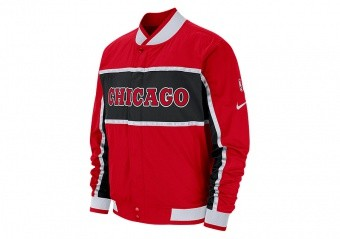 NIKE NBA CHICAGO BULLS COURTSIDE ICON JACKET UNIVERSITY RED