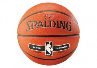 SPALDING NBA SILVER OUTDOOR (SIZE 6) ORANGE