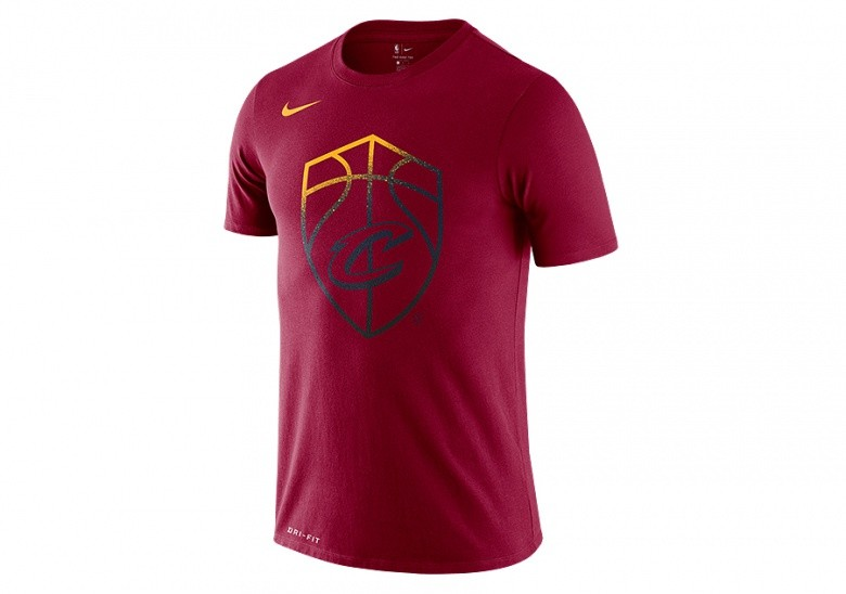 NIKE NBA CLEVELAND CAVALIERS LOGO DRY TEE TEAM RED