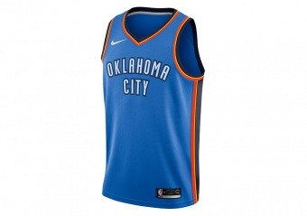 NIKE NBA OKLAHOMA CITY THUNDER SWINGMAN JERSEY SIGNAL BLUE