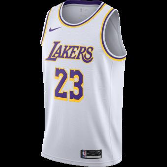 NIKE NBA LOS ANGELES LAKERS LEBRON JAMES SWINGMAN HOME JERSEY