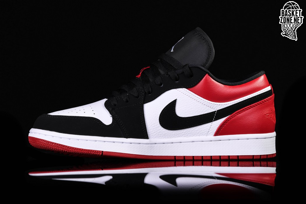 more photos 84da3 c1df6 NIKE AIR JORDAN 1 RETRO LOW BLACK TOE