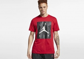 NIKE AIR JORDAN POOLSIDE TEE GYM RED