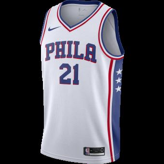NIKE NBA PHILADELPHIA 76ERS JOEL EMBIID SWINGMAN HOME JERSEY