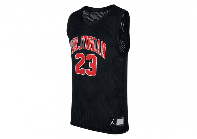 NIKE AIR JORDAN DNA DISTORTED JERSEY BLACK