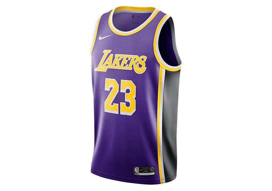 best sneakers f9028 82ee6 NIKE NBA LOS ANGELES LAKERS LEBRON JAMES SWINGMAN JERSEY ...