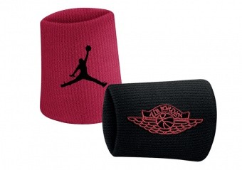 NIKE AIR JORDAN JUMPMAN X WINGS WRISTBANDS 2.0 BLACK GYM RED