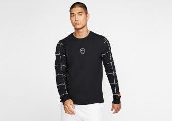 NIKE DRI-FIT LEBRON LONG SLEEVE TEE BLACK