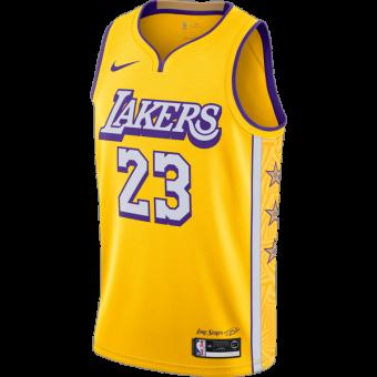 NIKE  NBA LEBRON JAMES LAKERS CITY EDITION TOP