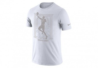 NIKE NBA STEPHEN CURRY MVP DRI-FIT TEE WHITE
