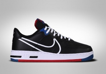 NIKE AIR FORCE 1 LOW REACT BLACK WHITE RED BLUE