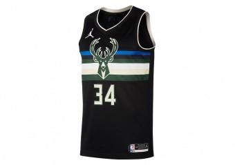 NIKE NBA MILWAUKEE BUCKS GIANNIS ANTETOKOUNMPO STATEMENT EDITION SWINGMAN JERSEY BLACK