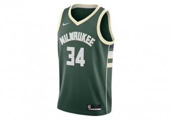 NIKE NBA MILWAUKEE BUCKS GIANNIS ANTETOKOUNMPO ICON EDITION SWINGMAN JERSEY FIR