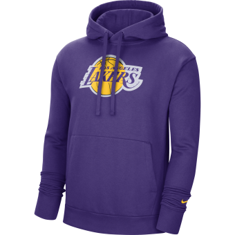 NIKE NBA LOS ANGELES LAKERS ESSENTIAL LOGO PULLOVER HOODIE