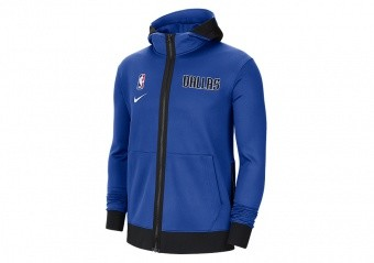NIKE NBA DALLAS MAVERICK SHOWTIME THERMA FLEX HOODIE GAME ROYAL