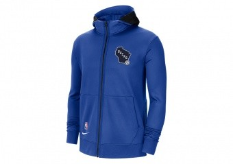NIKE NBA MILWAUKEE BUCKS SHOWTIME CITY EDITION THERMA FLEX HOODIE GAME ROYAL