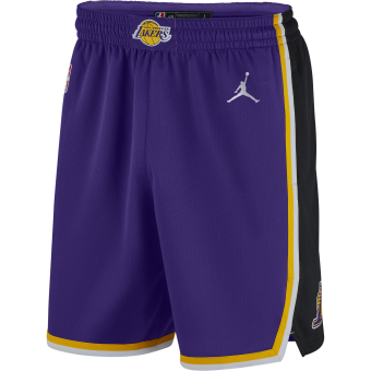 NIKE NBA LOS ANGELES LAKERS STATEMENT EDITION SWINGMAN SHORTS