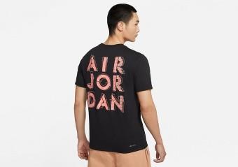 NIKE AIR JORDAN DRI-FIT AIR GRAPHIC CREW TEE BLACK