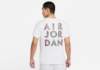 NIKE AIR JORDAN DRI-FIT AIR GRAPHIC CREW TEE WHITE