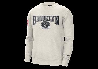NIKE NBA BROOKLYN NETS FLEECE COURTSIDE 75 CREWNECK