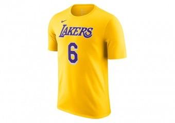 NIKE NBA LOS ANGELES LAKERS LEBRON JAMES 6 TEE AMARILLO